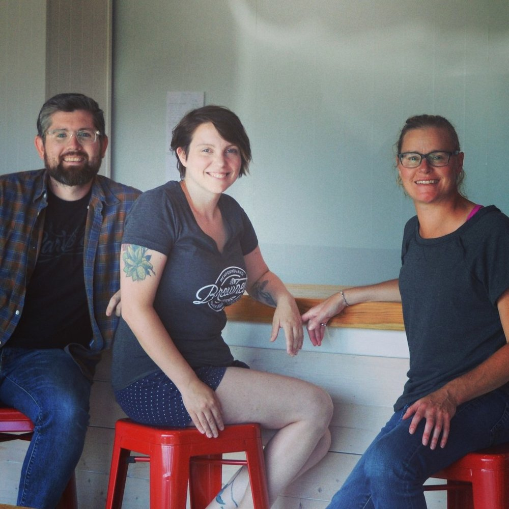 Landwash Brewery  owners Chris Conway, Christina Coady and Jennifer Defreyne.