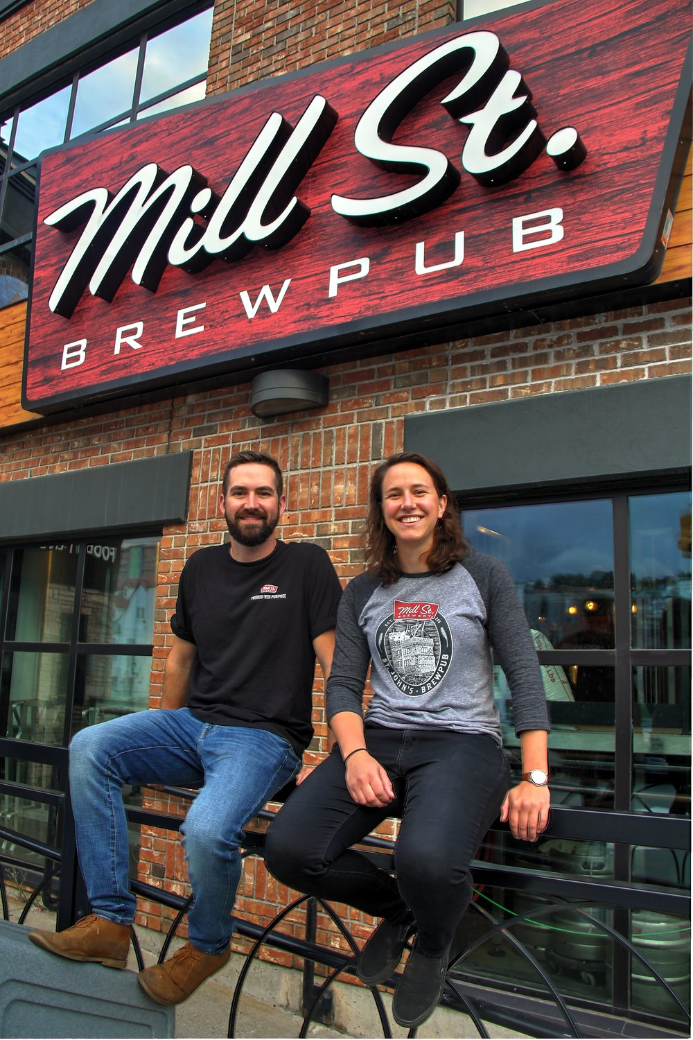 Jordan and Jacoba courtest of Mill Street Brewpub St. John's.