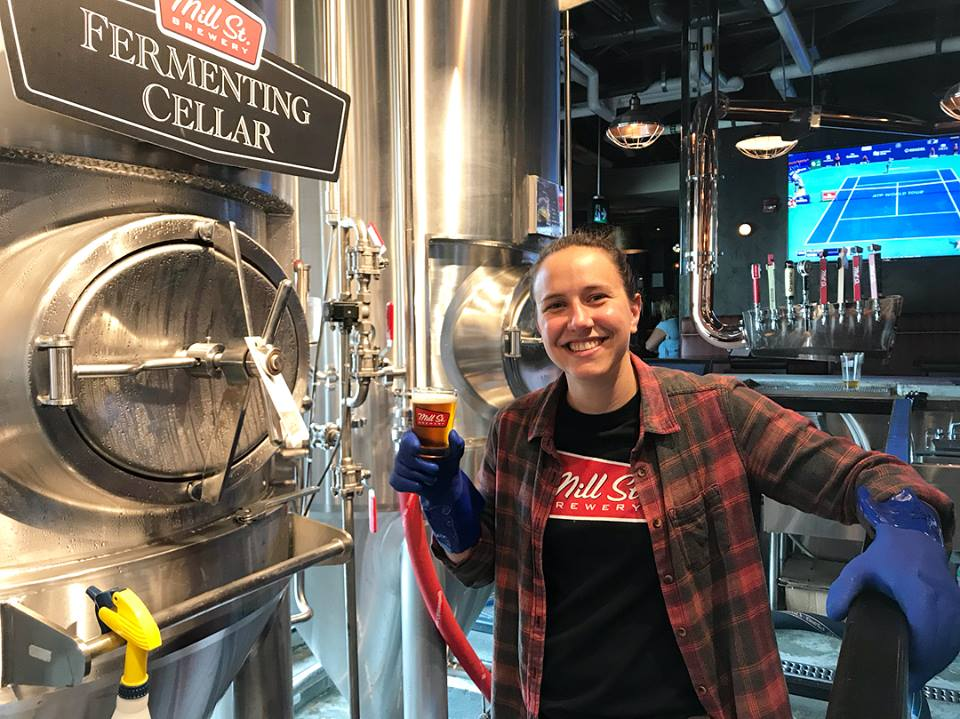 Head brewer, Jacoba Mol. courtesy of Mill Street Brew Pub St. John's.
