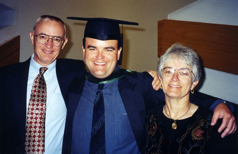 David and Kathleen Bagby with Andrew. Image borrowed from  HeadStuff.org