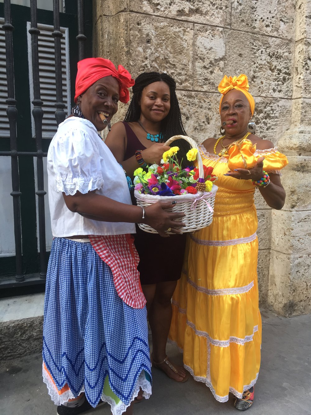 Chillin' with some  Afro Cuban  beauties.  Cuba,   February 2016 .