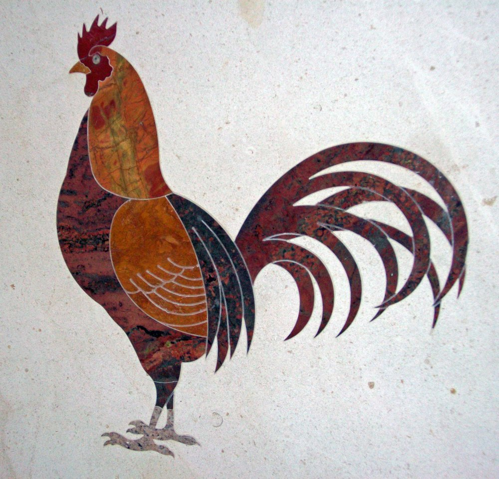 Water Jet cut- Stone Rooster Inlay.jpg
