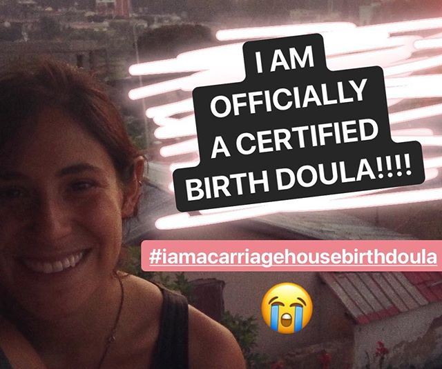 I am. Just. Gonna leave this. Right here. 😭😭❤️❤️. Too many feelings. I will write more later. For now SO MUCH LOVE. SO MUCH GRATITUDE. ✨✨ #iamacarriagehousebirthdoula #carriagehousebirth @carriagehousebirth ✨✨ here is what I wrote for Carriage House Birth : -  I have never felt connected to something quite like how I feel connected to being a doula. This path, which started almost exactly a year ago with my Carriage House Birth training, has been filled with more growth, love, vulnerability, and joy than I could have ever imagined. As a doula, I am there to hold space, to provide physical comfort, to reassure, to encourage, and to listen. I love this work. I love bearing witness to someone's story. I love birth and birthing people. I love the process. I am insanely grateful for (and humbled by) every person who has welcomed me into this intimate, powerful moment in their lives. I would not be here without you. And I am so excited for the next chapters of this journey.