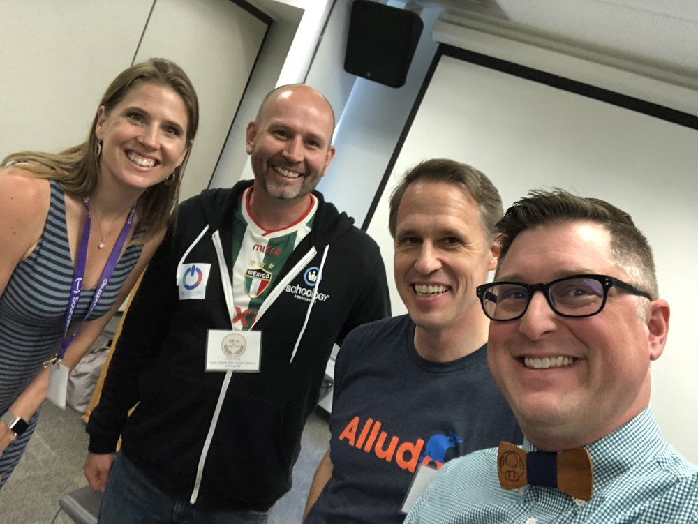5. RELATABLE - As a classroom teacher I can relate. I share stories that are not from years past, but from last week. My topics range from gamification to tech tools there is truly something for everyone in his sessions. Truly, from PK to PHD my joyful message resinates with audiances everywhere.