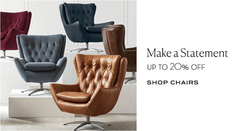 Pottery Barn Chair Sale Interior Design Toronto