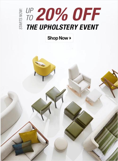 Crate Barrel Upholstery Event Interior Design Toronto