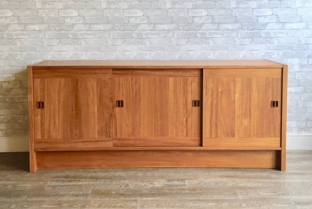Danish Teak Credenza For Sale : Vintage home boutique old stock mid century danish teak sideboard