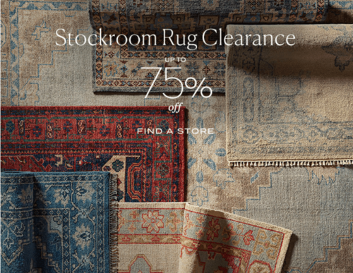 Pottery Barn Up To 75 Off Rugs Interior Design Toronto