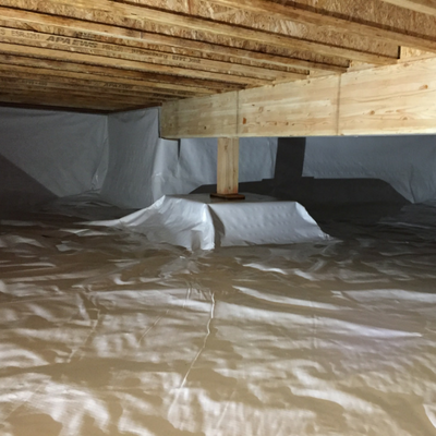 finished crawl space moisture barrier