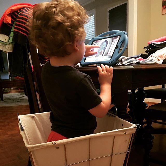 Boy in a basket