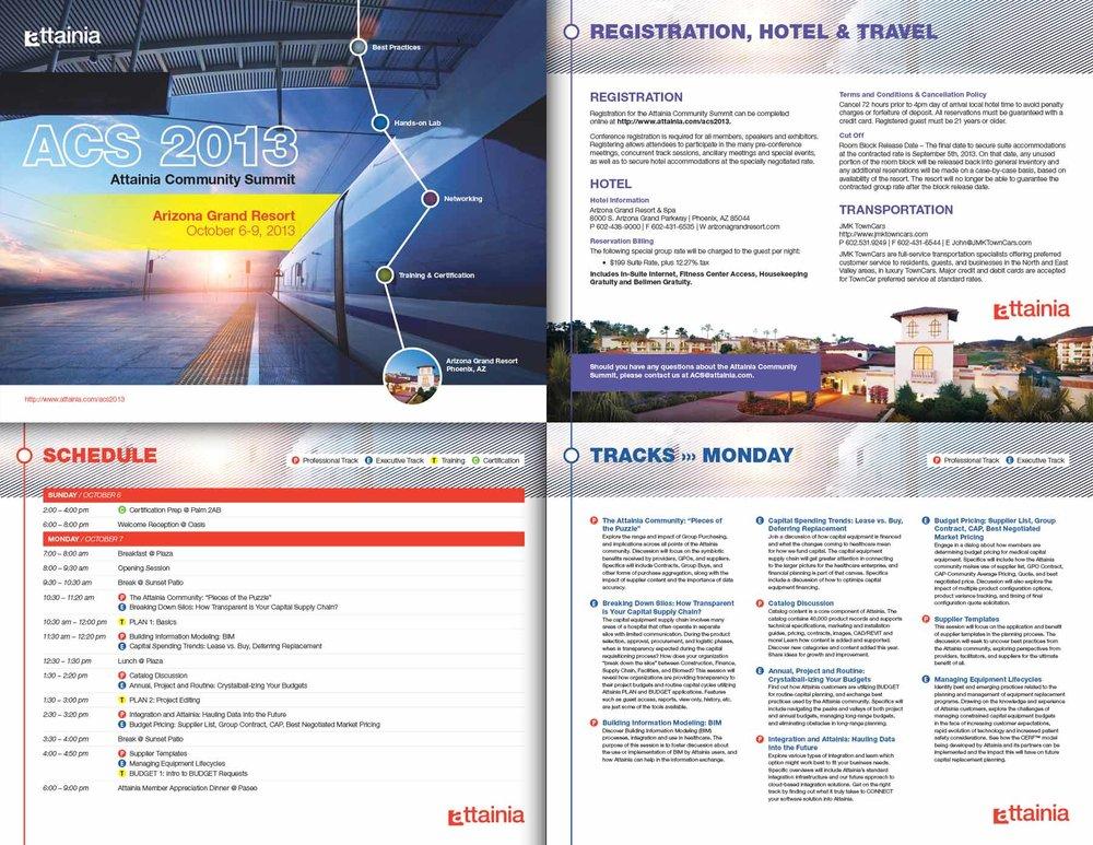 Attainia Conference Brochure