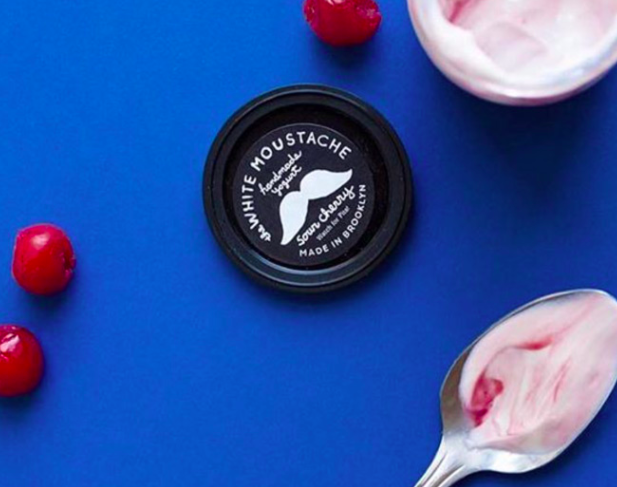 The White Moustache  was one of the first yogurt makers in the U.S. to upcycle their fresh sour whey. They were inspired by their Iranian roots, where drinking the fresh, tangy whey from yogurt production is commonly enjoyed.