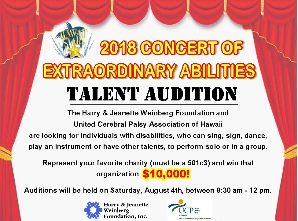 2018 Weinberg Concert of Extraordinary Abilities — United Cerebral