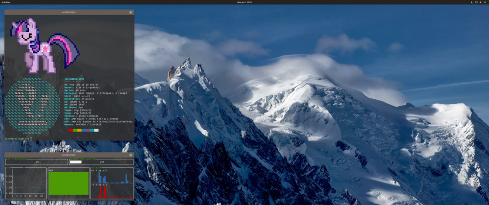 Screenshot, Twilight, 2019-01-07 23:59, Pop!_OS 18.10
