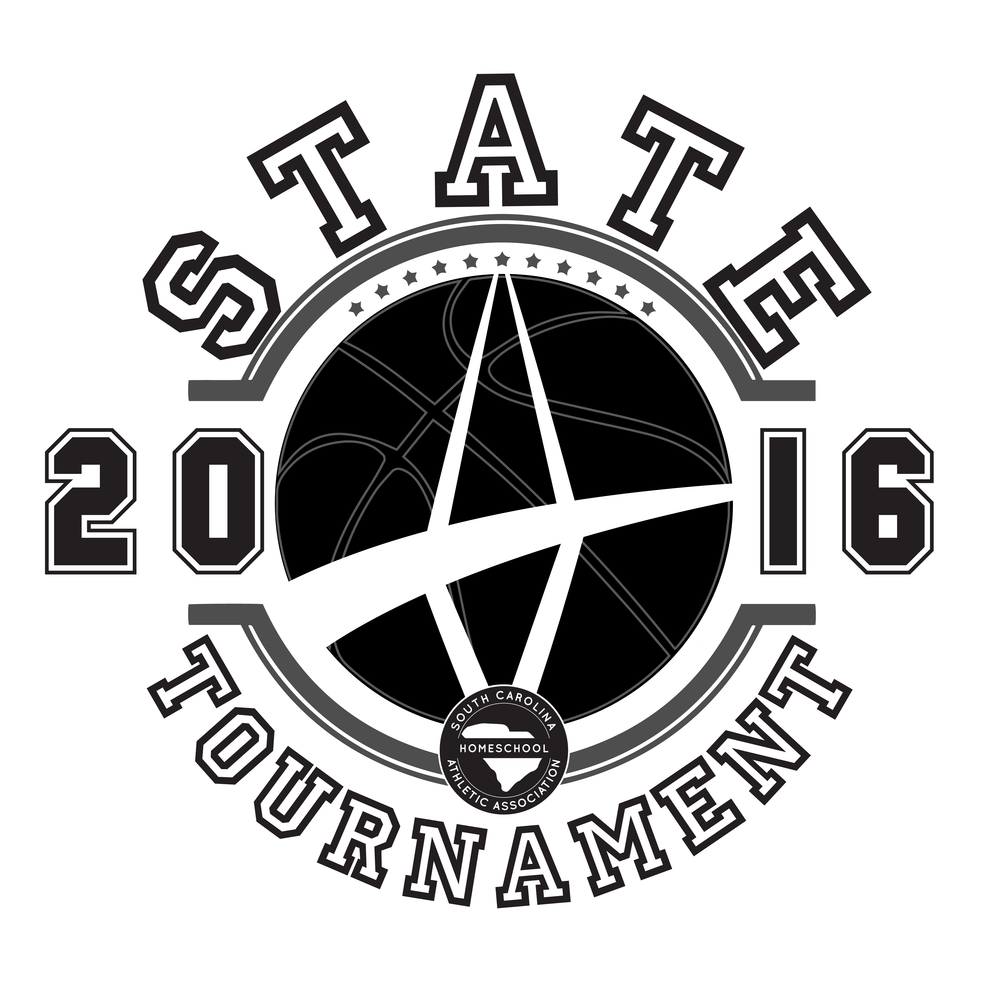 State   Home School Basketball Tournament Branding & Shirt Design