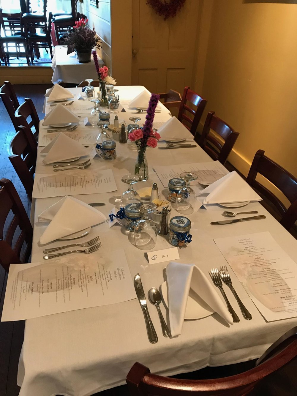 Private Event Large Table at Restaurant in Stoughton