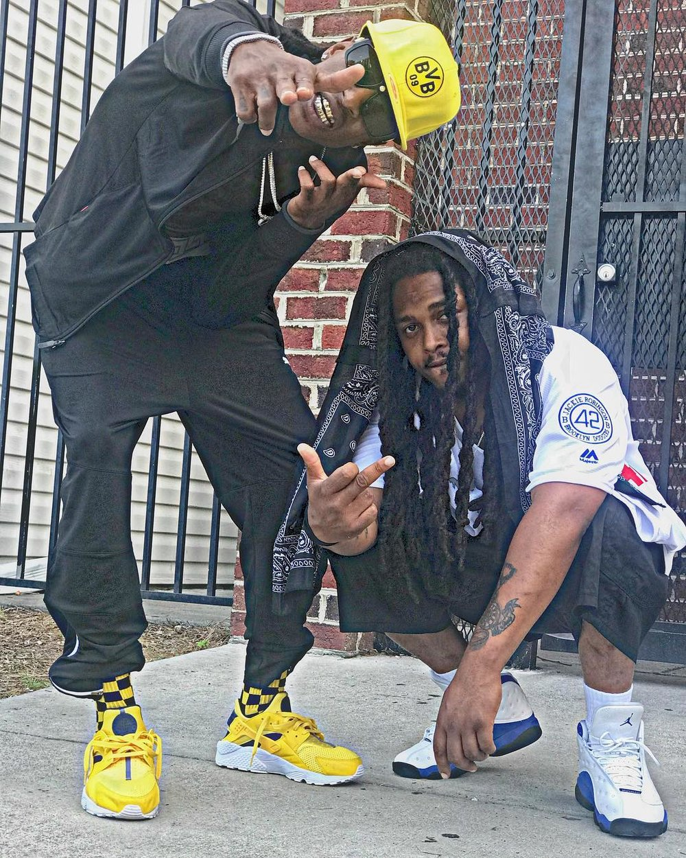 """Lucciano Da G & BankkRoll Ziggy on the video set of """"Let's Be Honest"""" single from the highly anticipated """"Loose Cannon Vol. 4 Mixtape"""" set to release July of 2018!"""