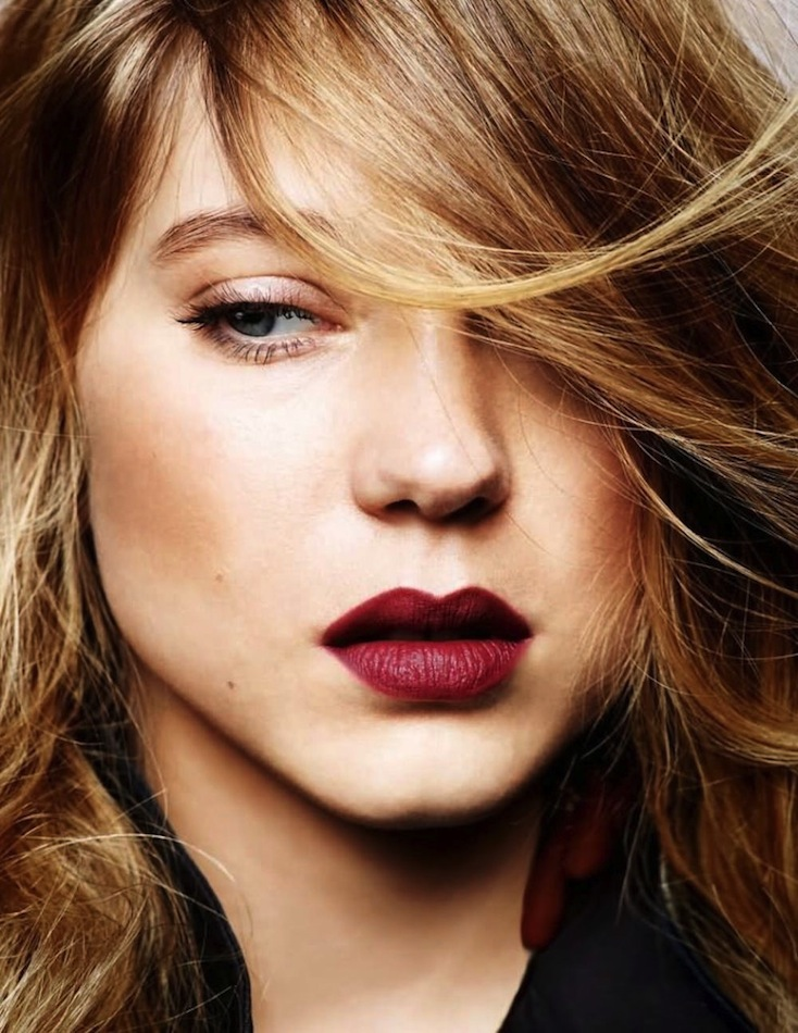 Le-Fashion-Blog-Lea-Seydoux-Burgundy-Lips-Lipstick-Beauty-Make-Up-Inspiration-Via-Elle-France