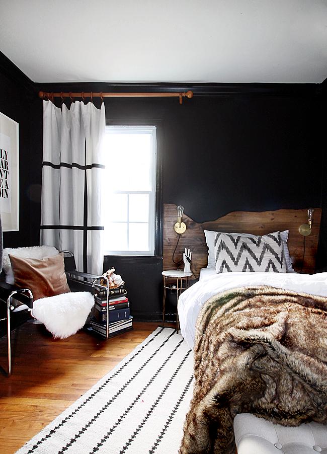 cozy layered bedroom