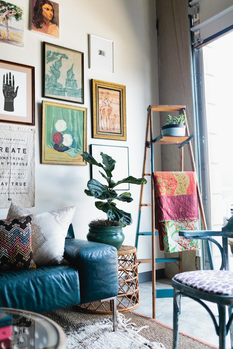 ladder as decor