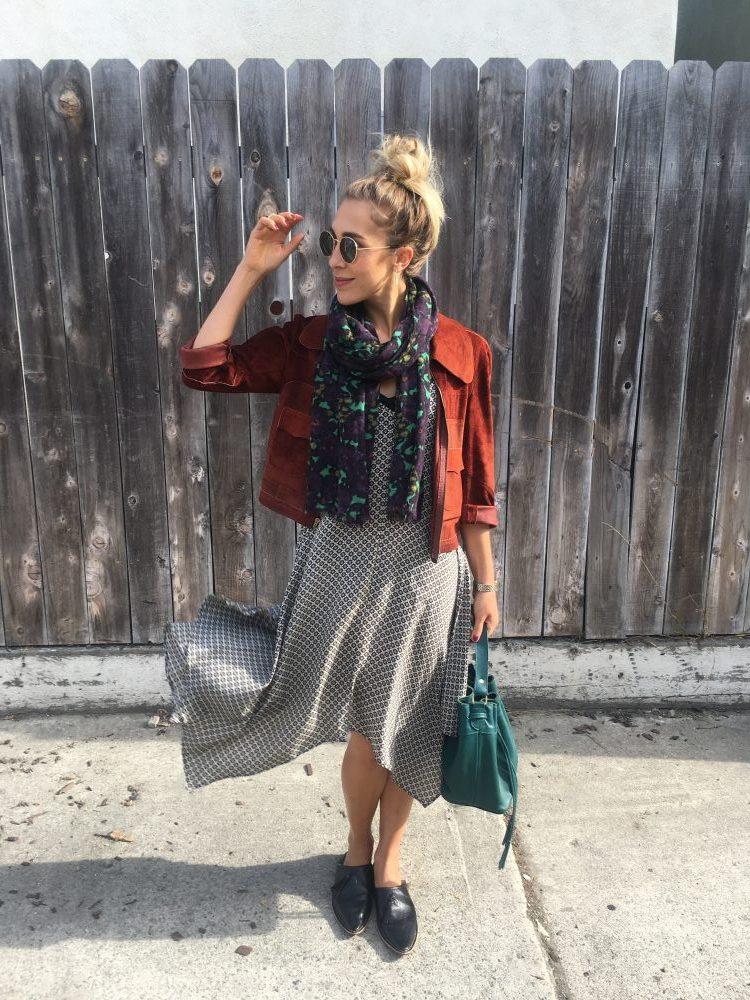 slip dress styling for fall