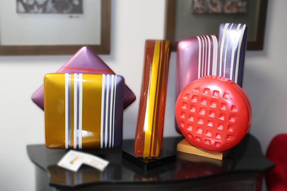 Set of 3 Assetto Candy Sculpture