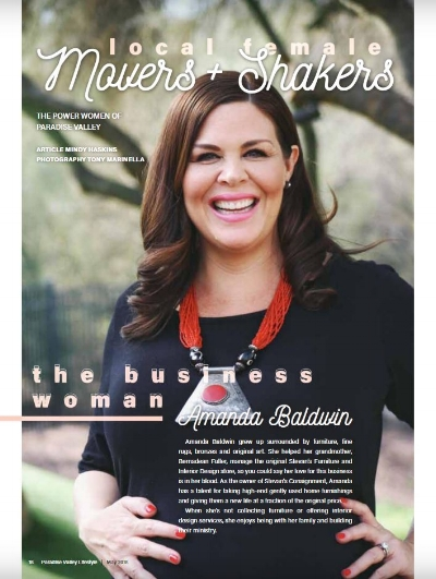 Owner Amanda Baldwin featured in the May 2018 Issue of Paradise Valley Lifestyle.