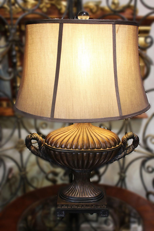 Faux Bronze Urn Lamp