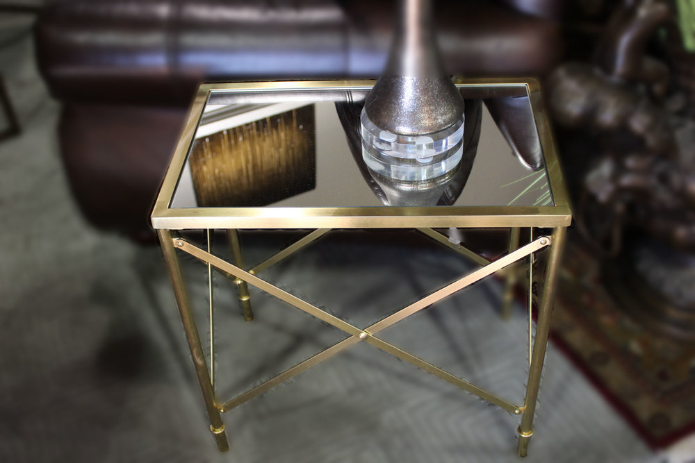 NEW Mirrored End Table
