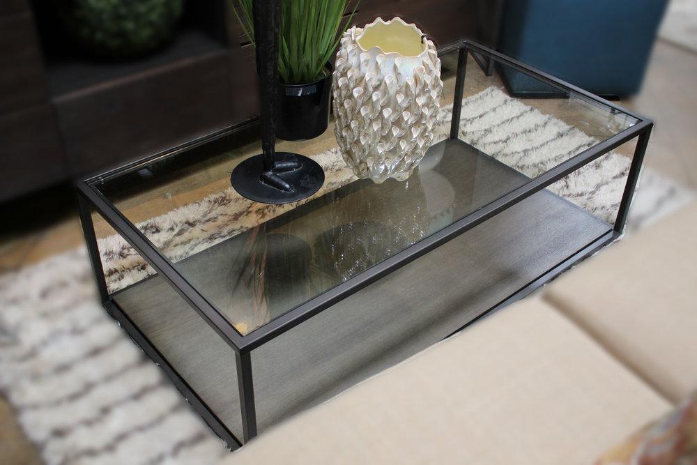 Crate & Barrel Metal Cocktail Table