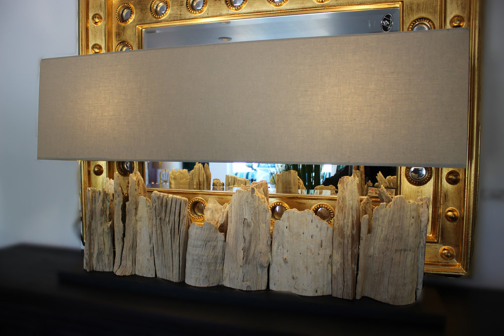 Driftwood Console Lamp