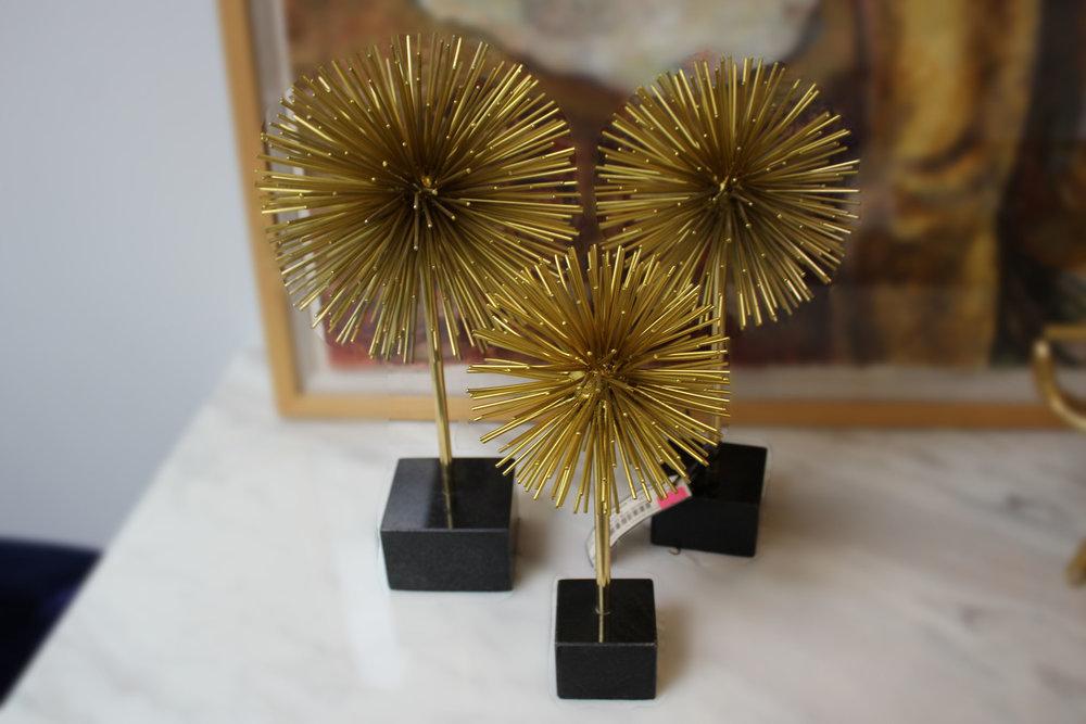 NEW Set of 3 Brass Urchins