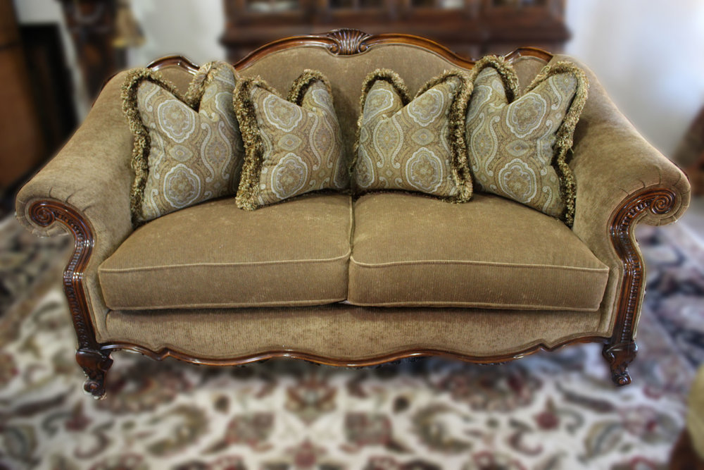 Green Corduroy Sofa