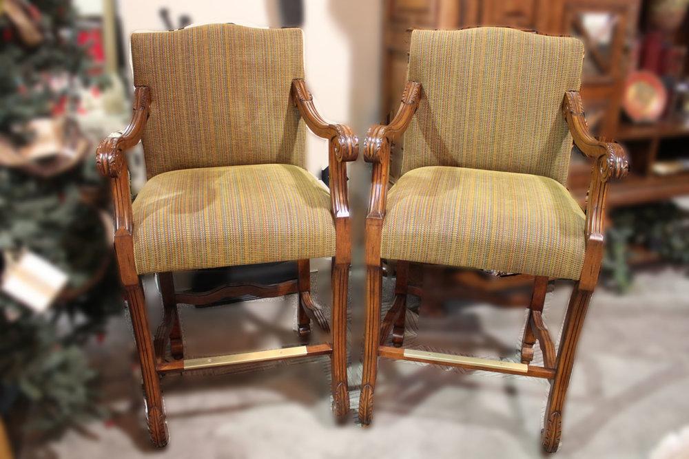 Pair of Multi Colored Barstools