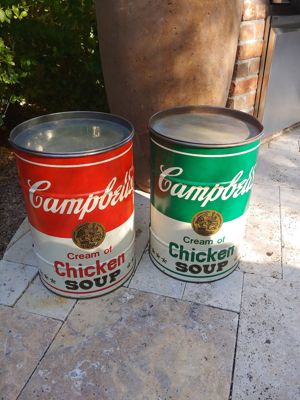 Vintage Campbell Soup Can Stools