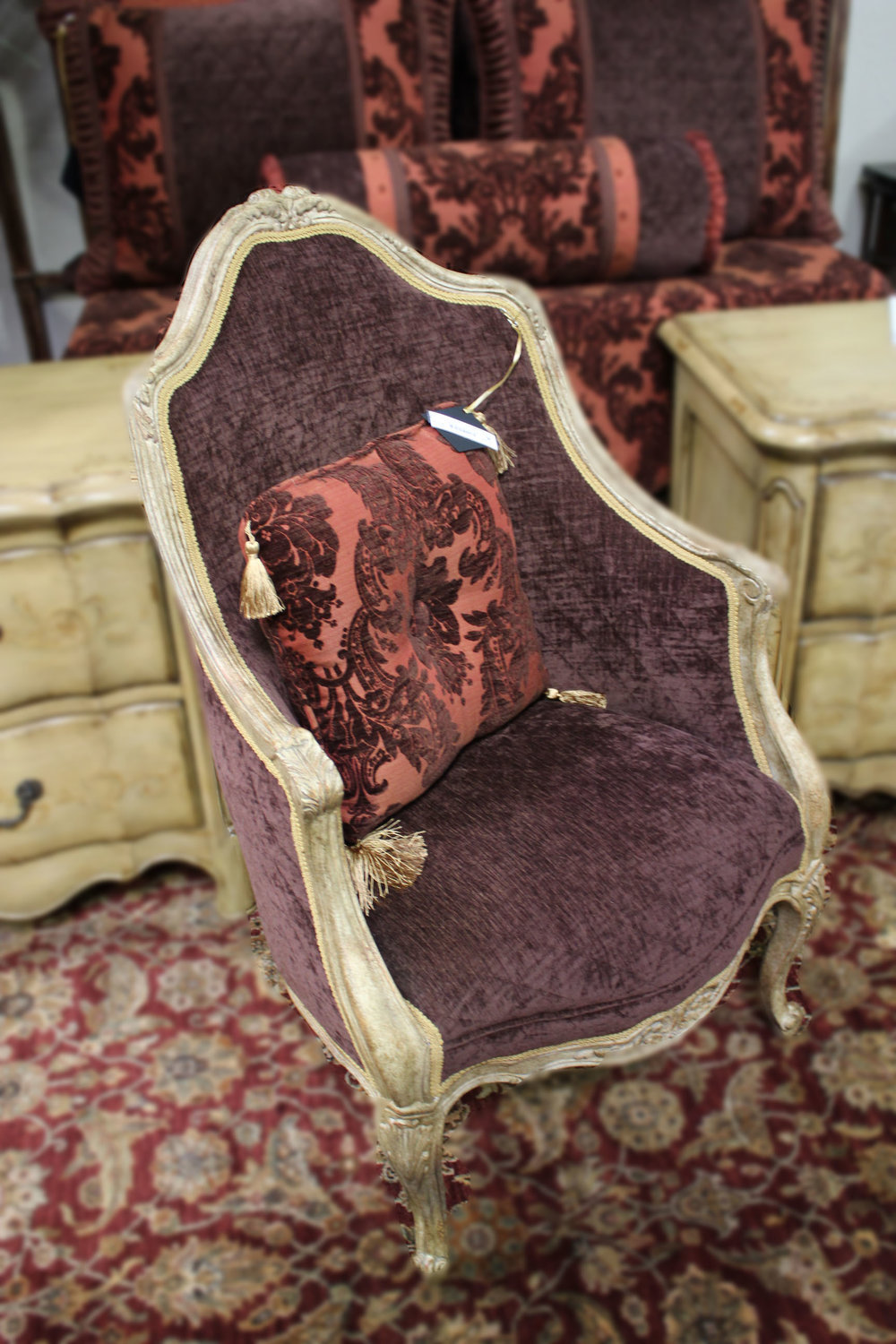 Brown Quilted Chair