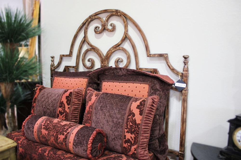Queen Metal Highback Bed