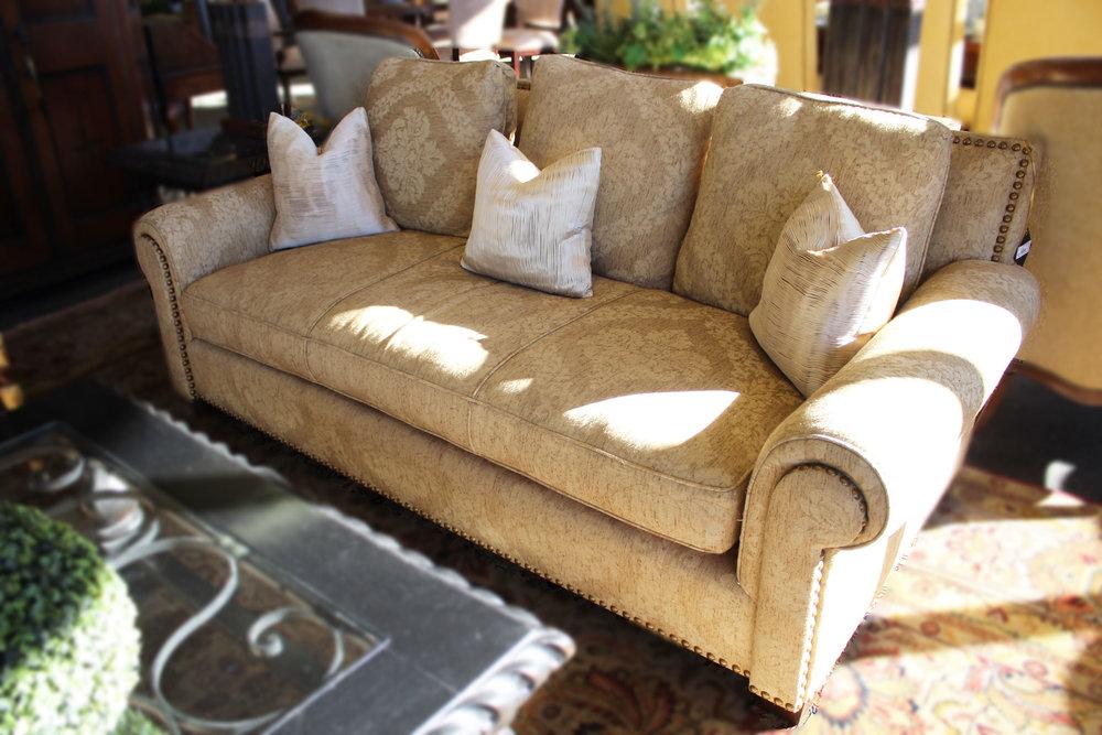 Gold Damask Sofa