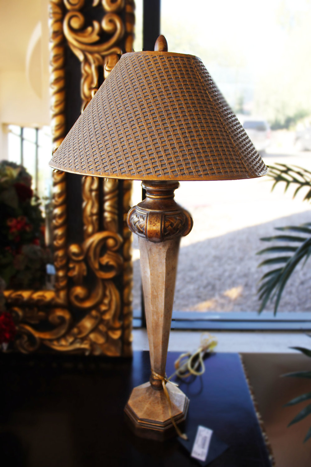 Phoenix Art Group Pair of Ivory Gold Lamps