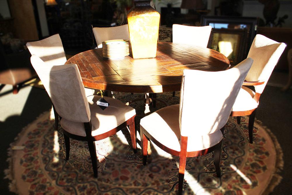 Century Furniture Set of 6 Cream Dining Chairs