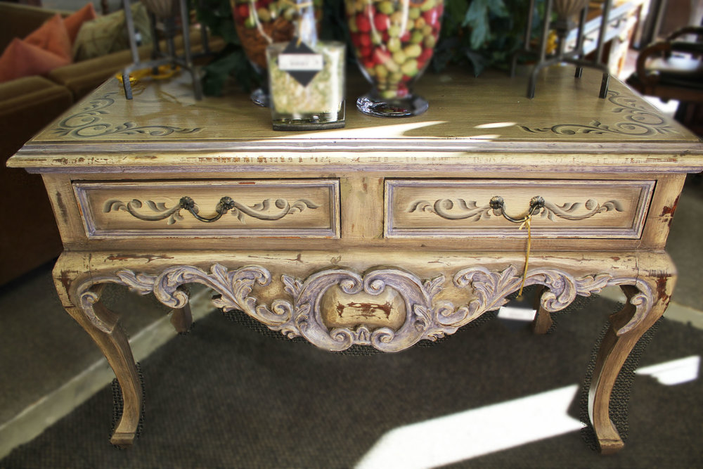 Taupe Painted Console