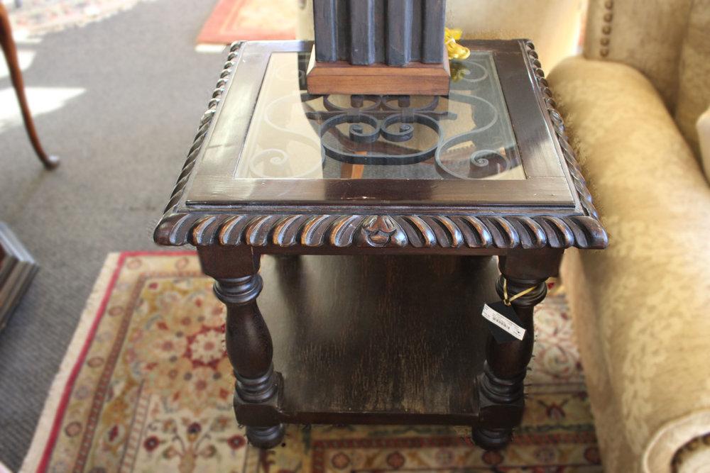 Wood & Metal End Table AS IS