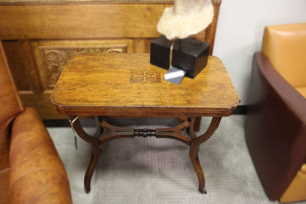 Antique Inlay Tea Table