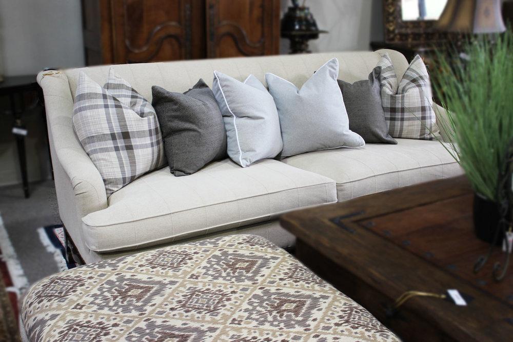 3 Piece Living Room Set Linen Sofa, Chair, & Ottoman
