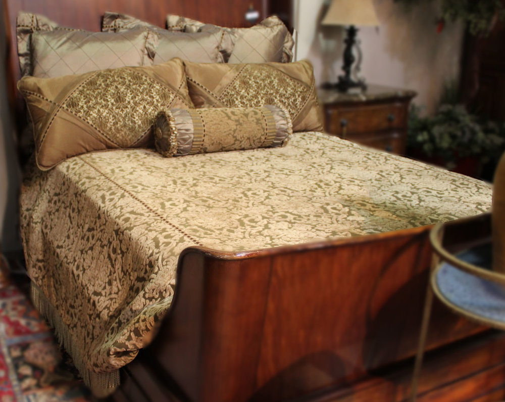 Eastern Accents King Tan & Gold Bedding