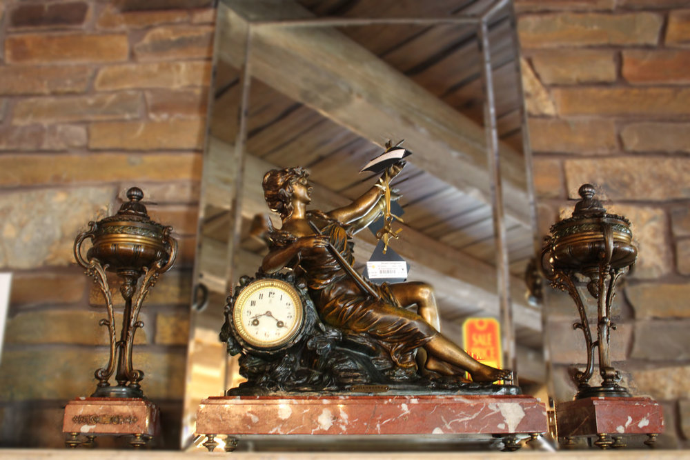 3 Piece French Woman Clock