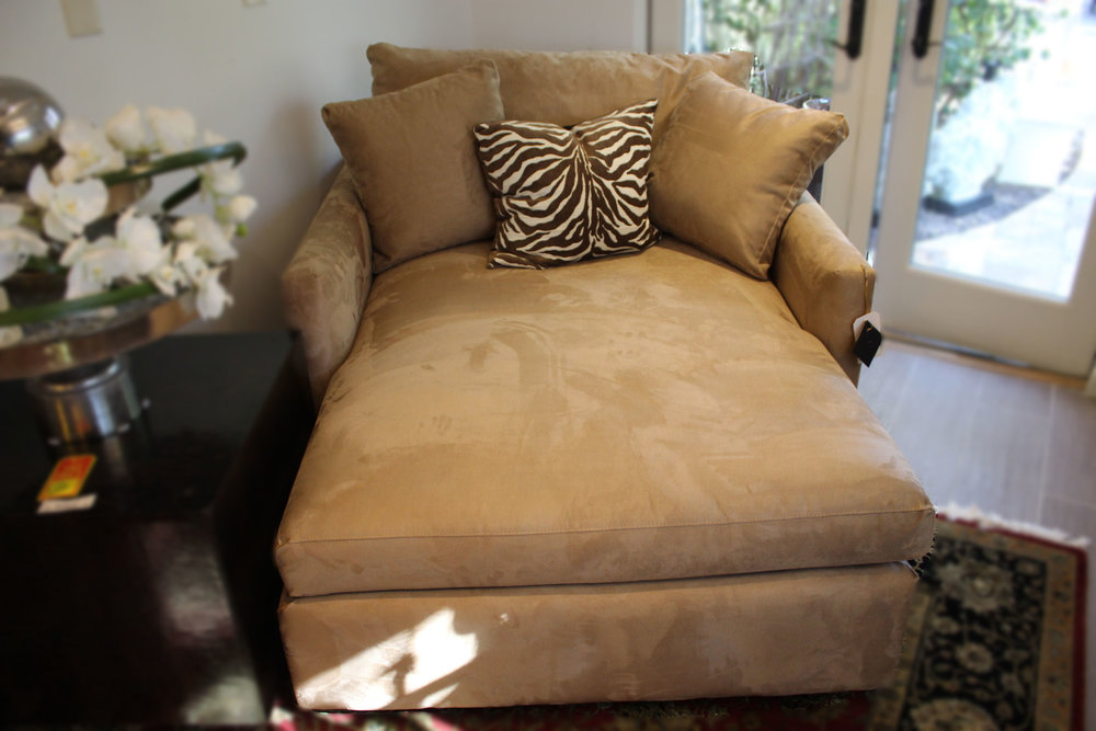 Crate & Barrel Taupe Chaise