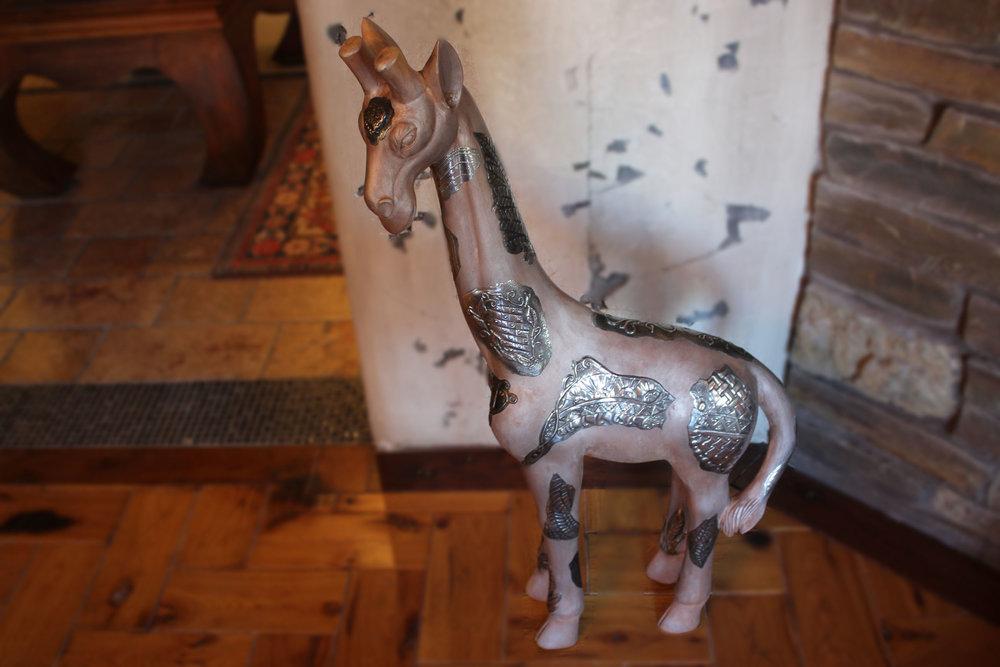 Pewter Embellished Giraffe