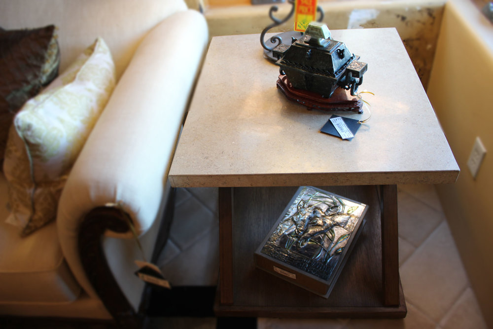 Stone & Wood End Table