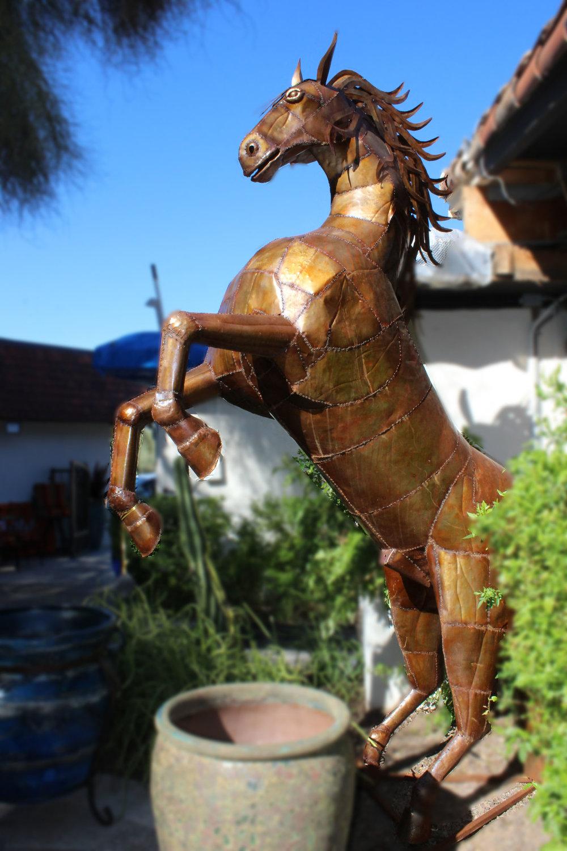 Pair of Outdoor Metal Horses